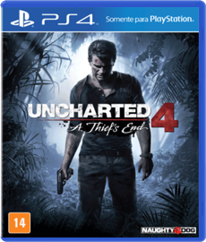 Uncharted 4 A Thief's End (Versão CD + ENCARTE ) - PS4 (Seminovo)
